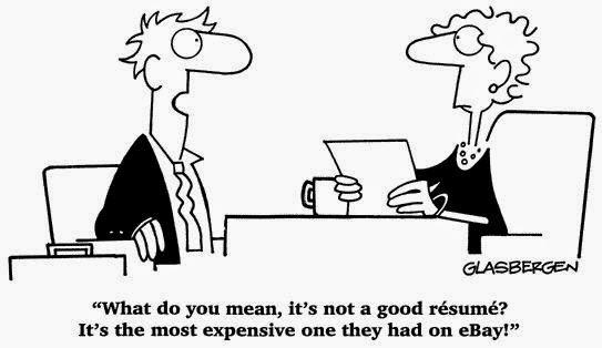 Expensive Resume Cartoon