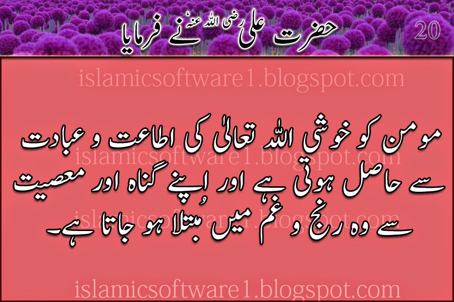 Quotations of Hazrat Ali R.A