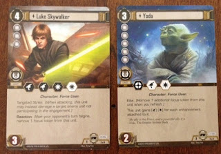 Star Wars Luke and Yoda cards