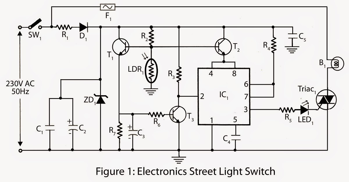 electronic project  electronics street light switch