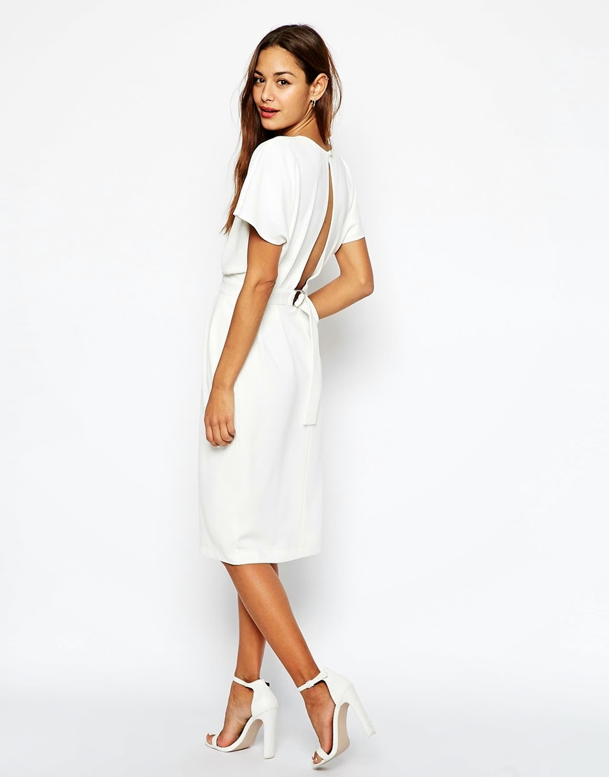 white open back midi dress, red open back midi dress,