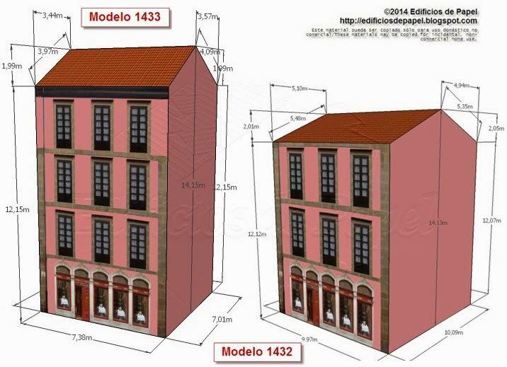 Modelos 1432 y 1433 Edificio con restaurante