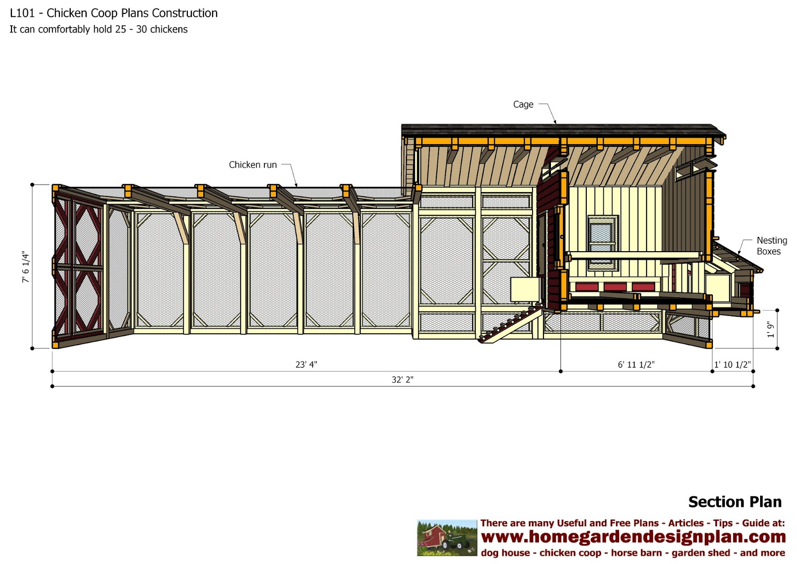 For chick coop how to build a chicken coop plans free for How to make a blueprint online for free
