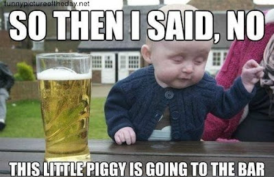 Baby Meme Little Piggy Funny Bar