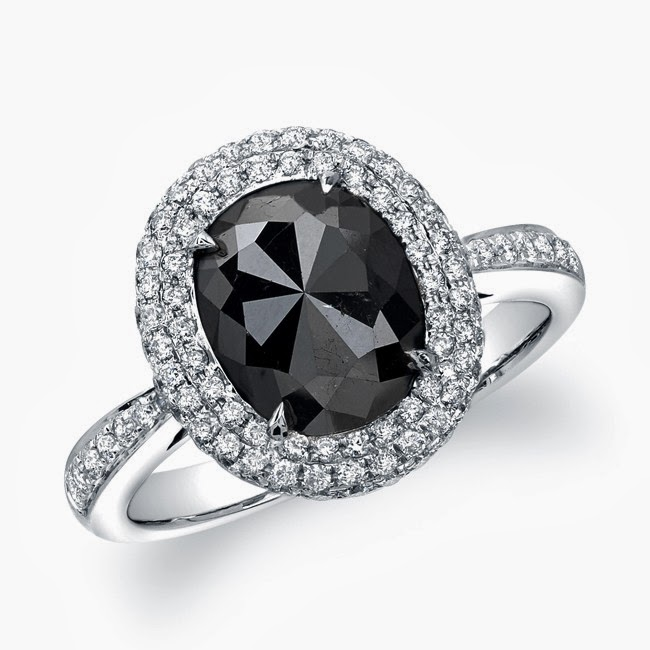 Latest Fashion Trends Black Diamond Rings 2013 2014 for Girls by Verragio