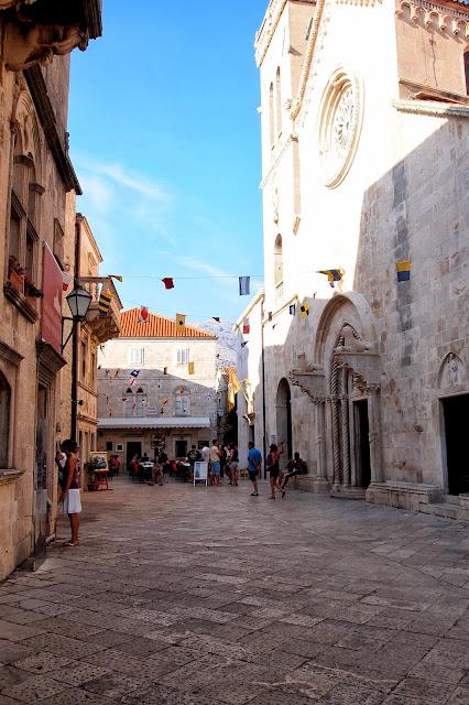 Korčula town square, Croatia