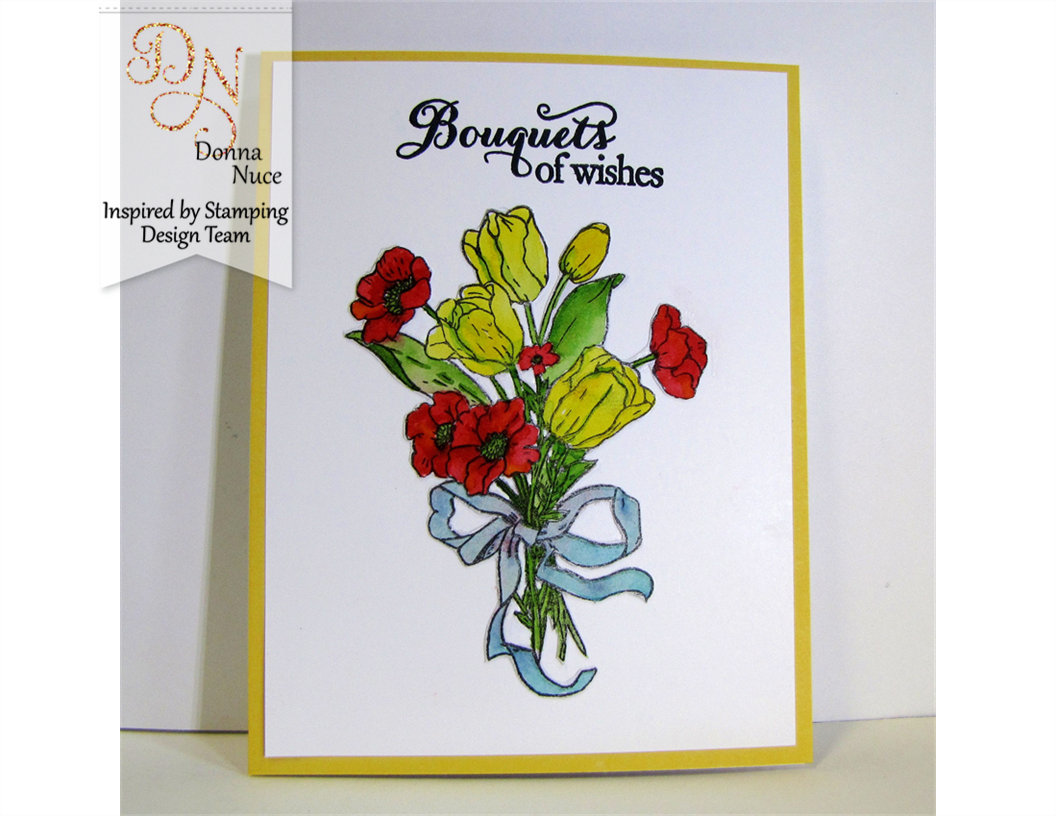 Inspired by Stamping, Crafty Colonel, Tulip Bouquet Stamp set, Birthday card
