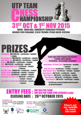 UTP TEAM CHESS CHAMPIONSHIP 2015 (National Rated Event)