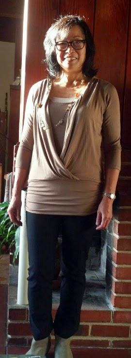 Flattering top for women over 50