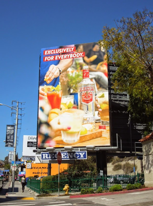 Exclusively for everybody Smirnoff Vodka billboard