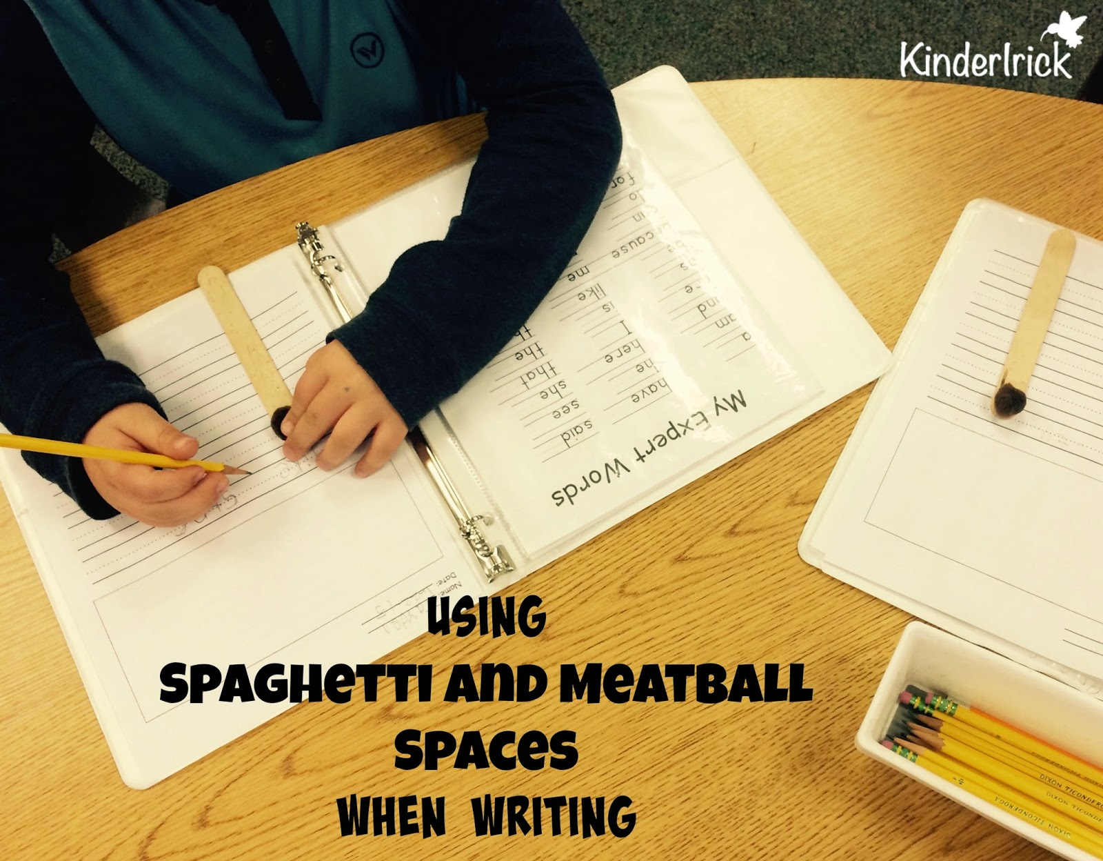 writing with young kids- spacing problem solved