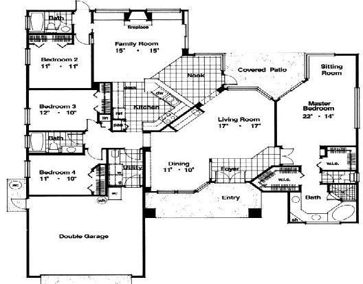 Planos de casas modelos y dise os de casas planos de for Disenos de casas americanas