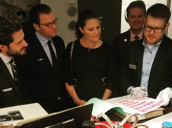 Crown Princess Victoria, Prince Daniel And Prince Carl Philip Visited The Centre For Business History