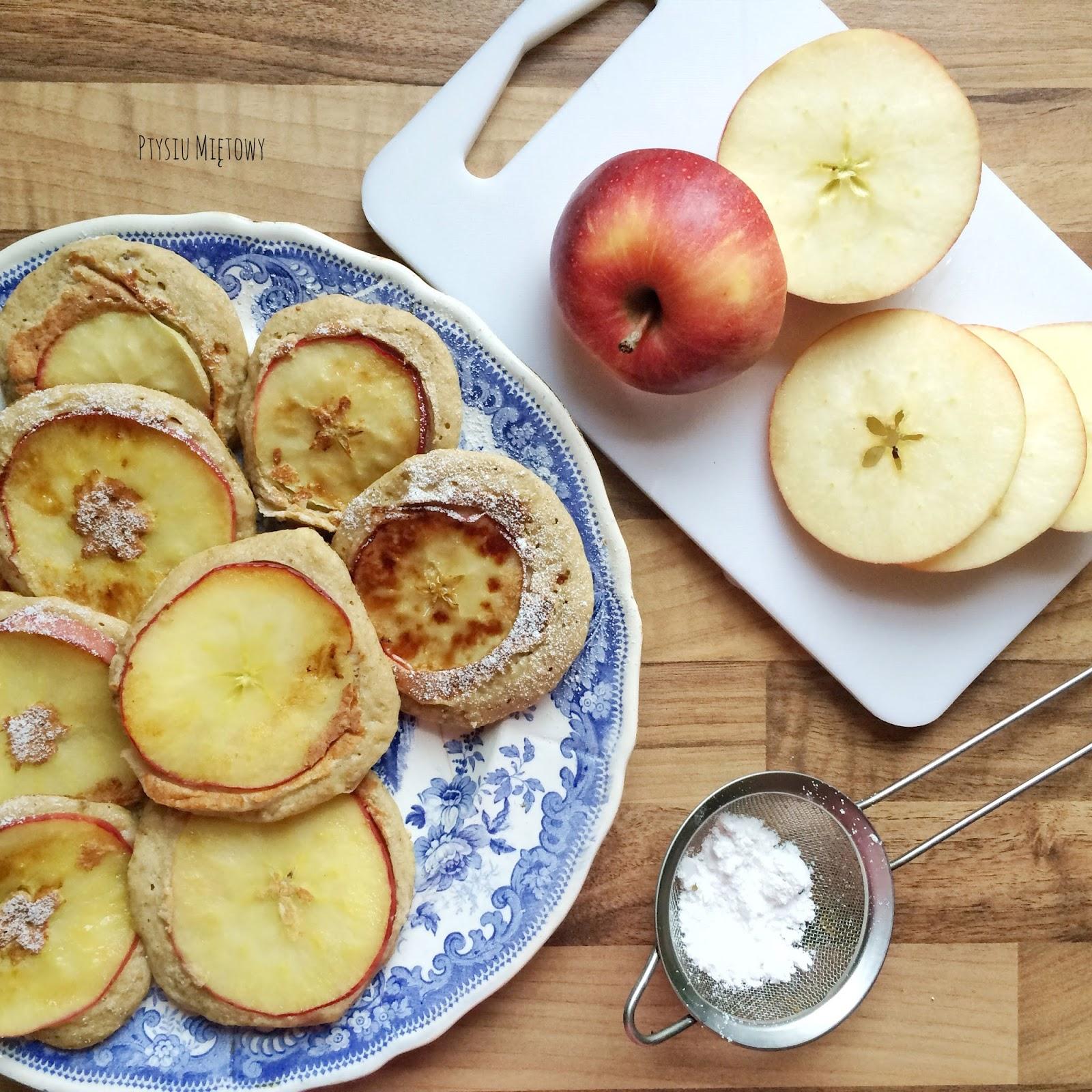 placki z jabłkami, owsiane placki, ptysiu miętowy