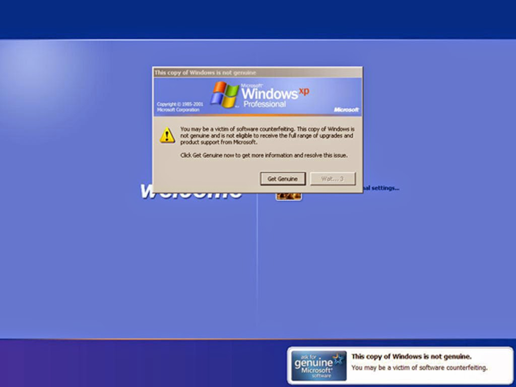 Cara Menghilangkan Windows Genuine di Windows XP
