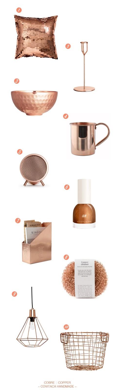 objetos cobre