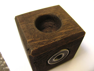 Ball bearing and wood cube