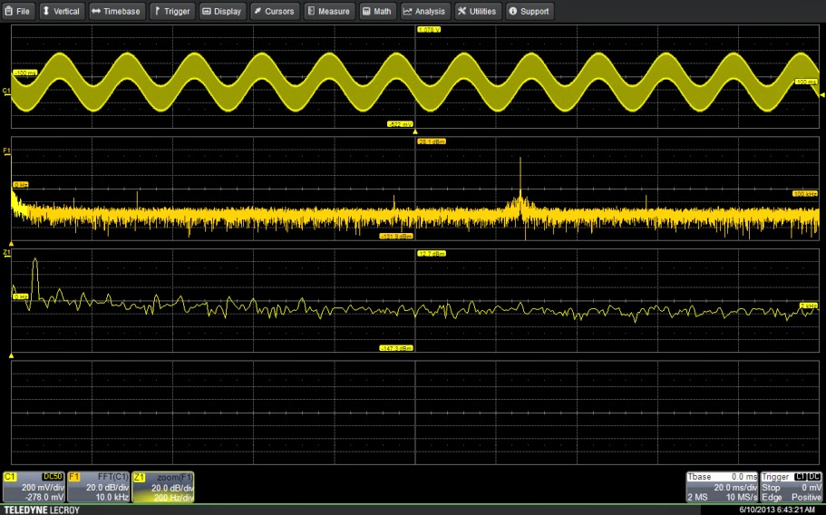 63-kHz signal with 60-Hz component