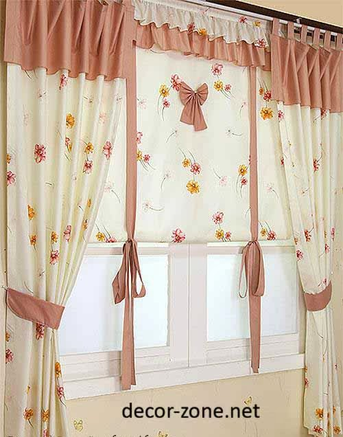 Design kitchen curtains different curtain design patterns home designing 15 modern kitchen - Modern valances for kitchen ...