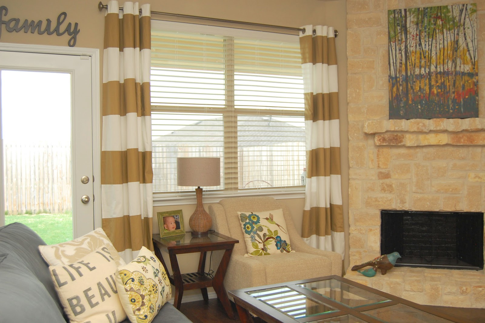 Gold And White Striped Curtains Gold and White Striped Table