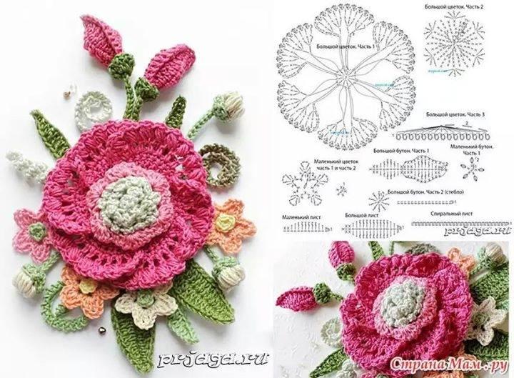 Croche Cia Da Cris 30 Flores Em Croche Com Graficos Ou Pap