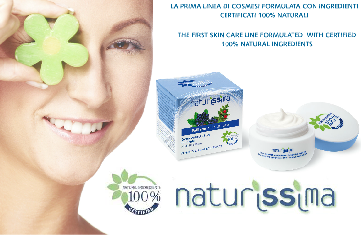 naturissima, la prima linea di cosmesi con ingredienti certificati 100% naturali