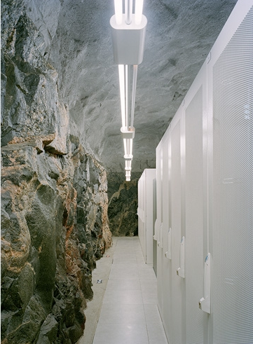 Photo of server room inside of the cave