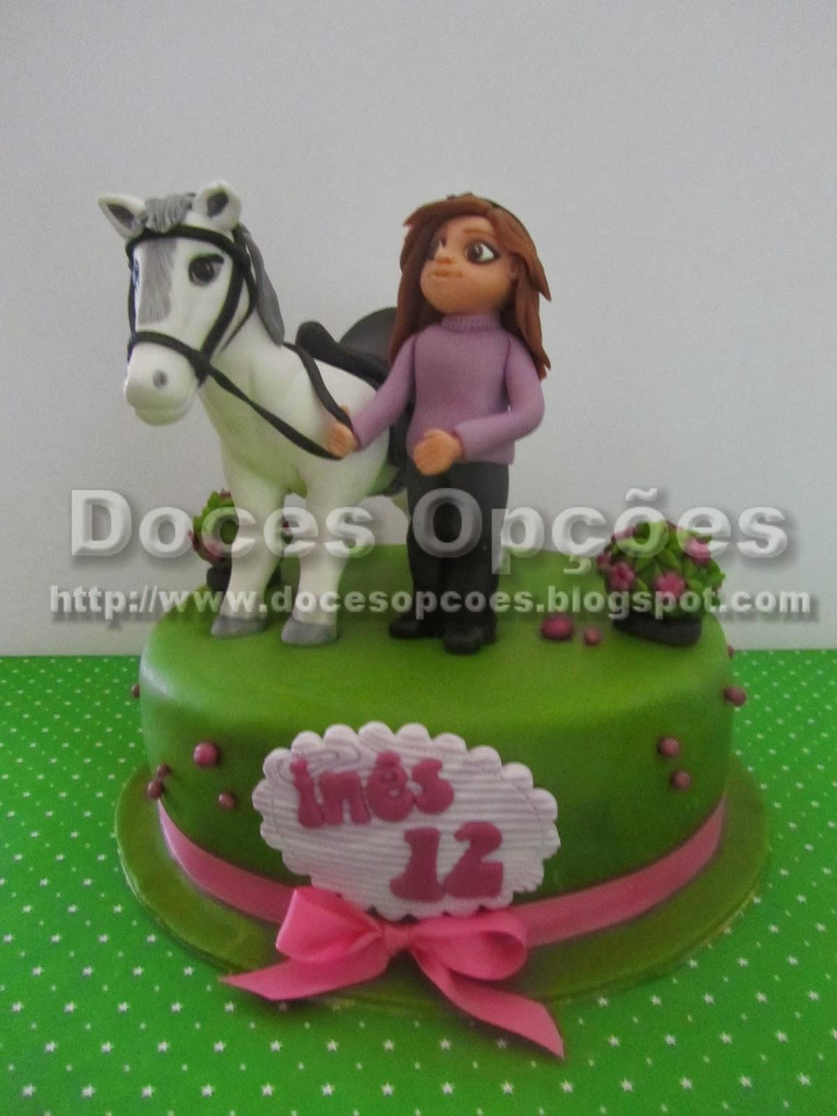 Bolo aniversário da Inês com o seu cavalo