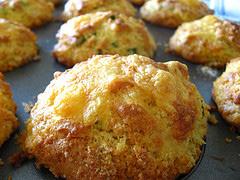 corn muffins Bruschetta