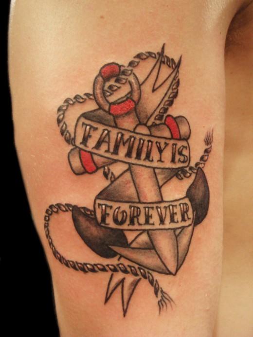 Old School Anchor Tattoo Designs