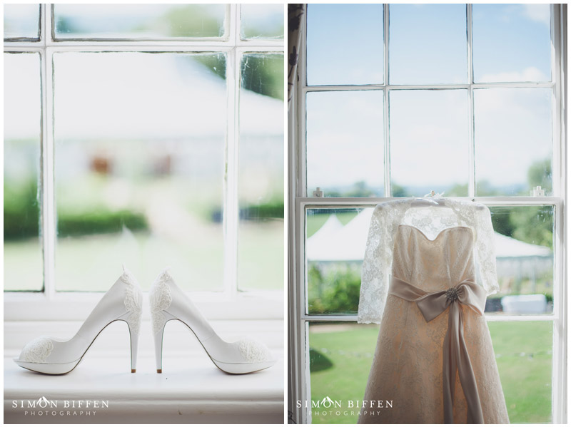 Roughmoor Farm wedding shoes and dress