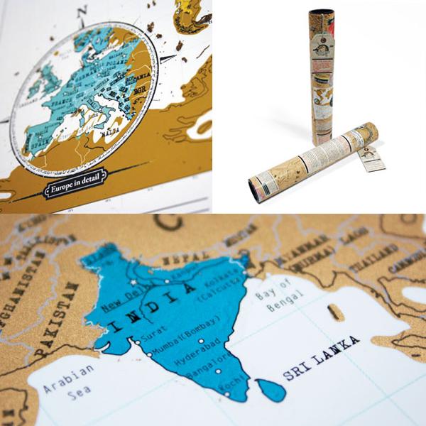 Luckies / ラッキーズ 行った国を削ろう スクラッチマップ