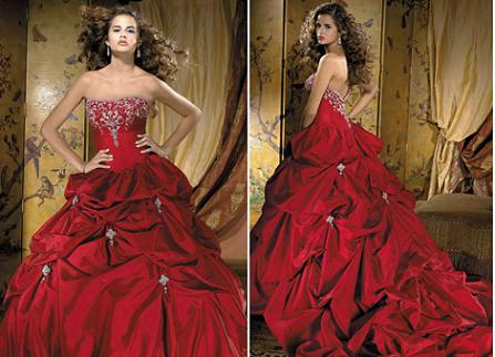 Red wedding dresses Red wedding dresses Posted by Bejeweled