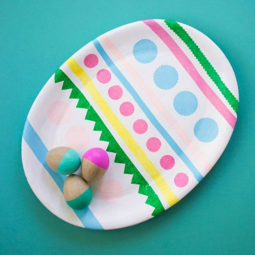 Turn an old platter into an Easter egg