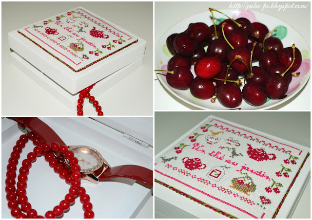 Zaza Picque - Un thé au jardin d'été, вышивка крестом, шкатулка