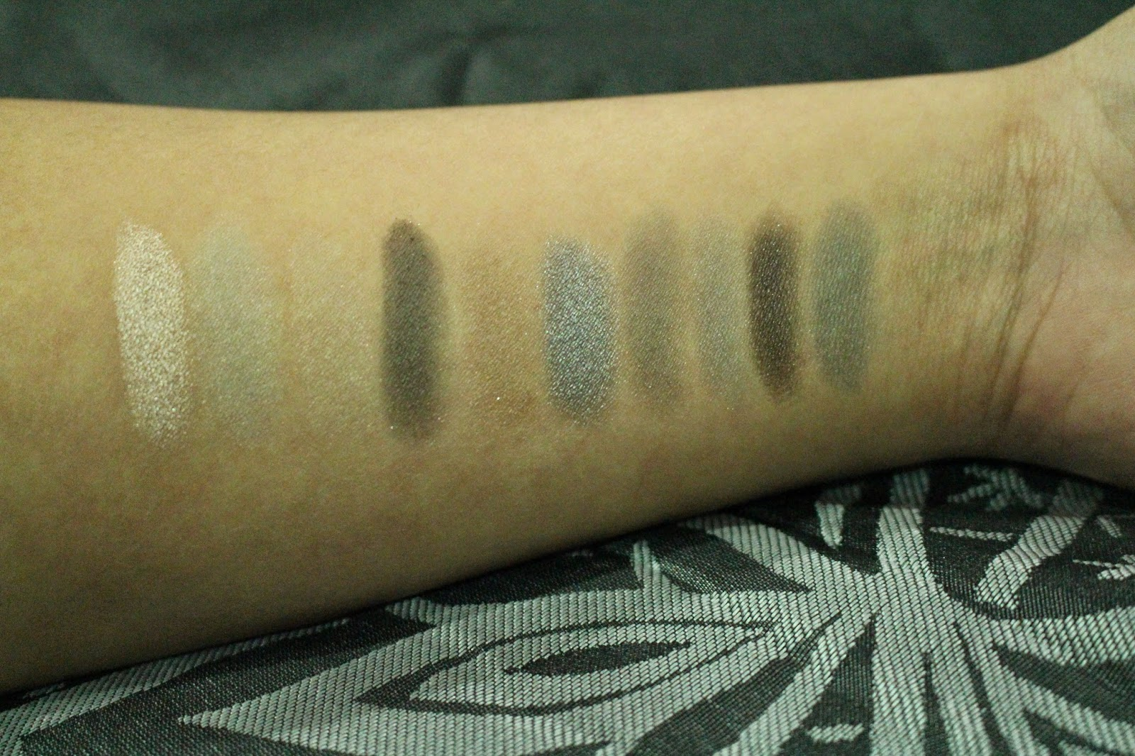 Beauty Essentials 10 Shade Smoky Eye Shadow Palette Swatches