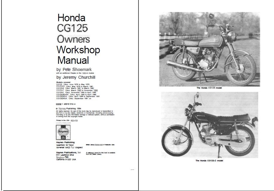 Honda cg 125 repair manual pdf