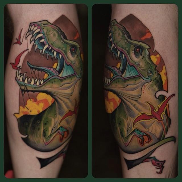 T Rex Tattoo Design