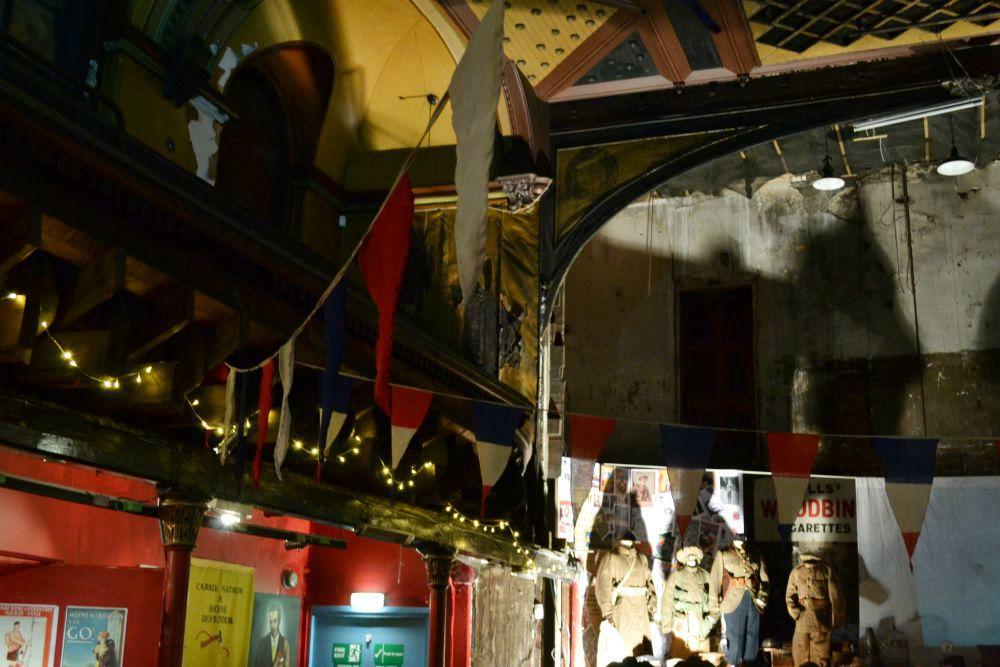 britannia panopticon music hall glasgow interior bunting flags