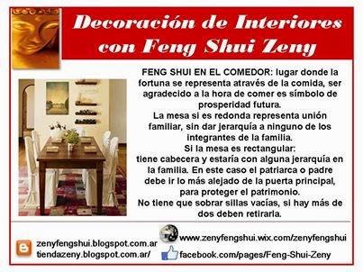 Zen y feng shui tao feng shui comedor - Los espejos en el feng shui ...