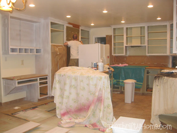 The Thrifty Home: Kitchen Remodel - Painting Cabinets