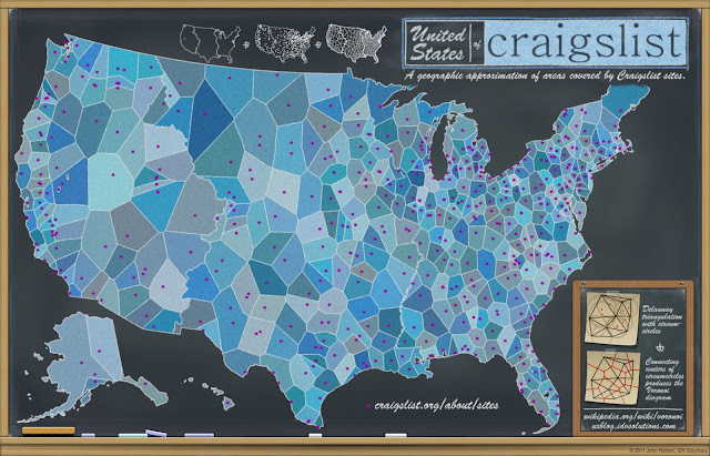 Chalkboard Maps United States Of Craigslist
