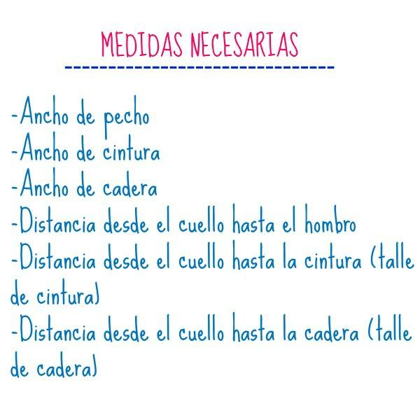 Medidas necesarias