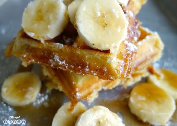 Banana Buttermilk Waffles @ Blissful Roots