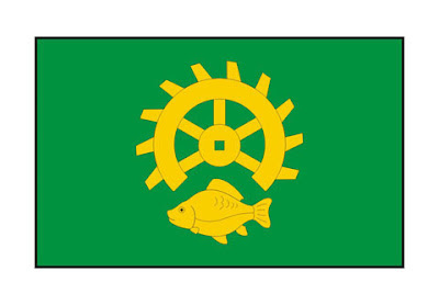 Flaga gminy Ruda Maleniecka