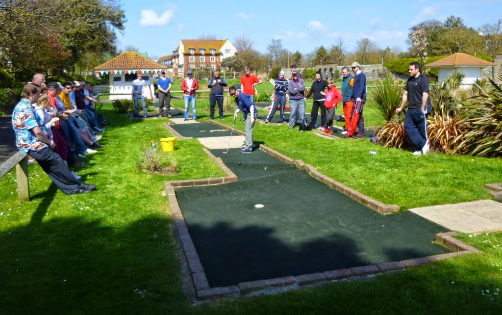 Minigolf Photo: Emily Gottfried playing at Splash Point Mini Golf in Worthing earlier this season