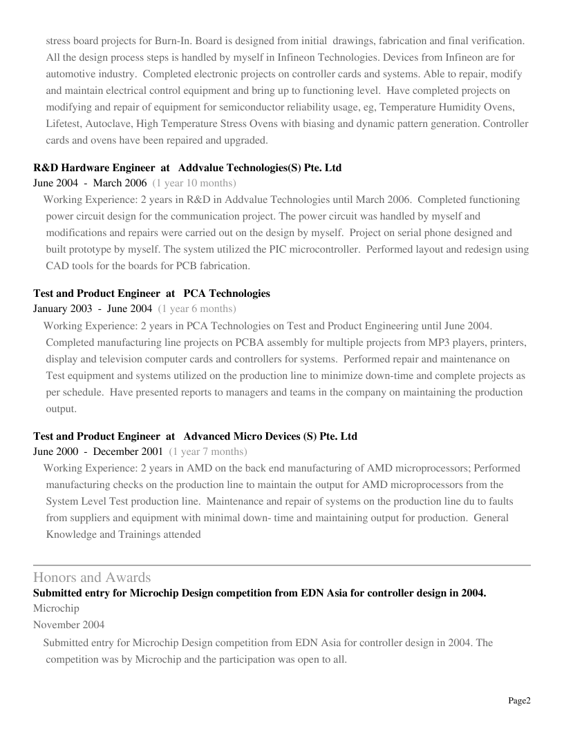 please check the attached resume