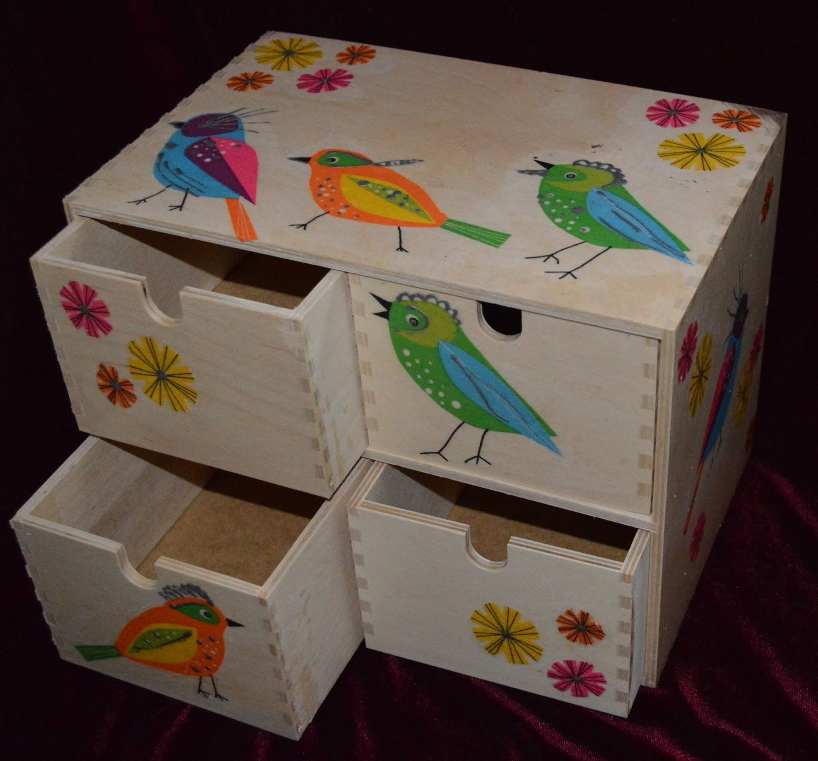 Mini Chest Of Drawers ~ Agni s art space decoupage mini chest of drawers and