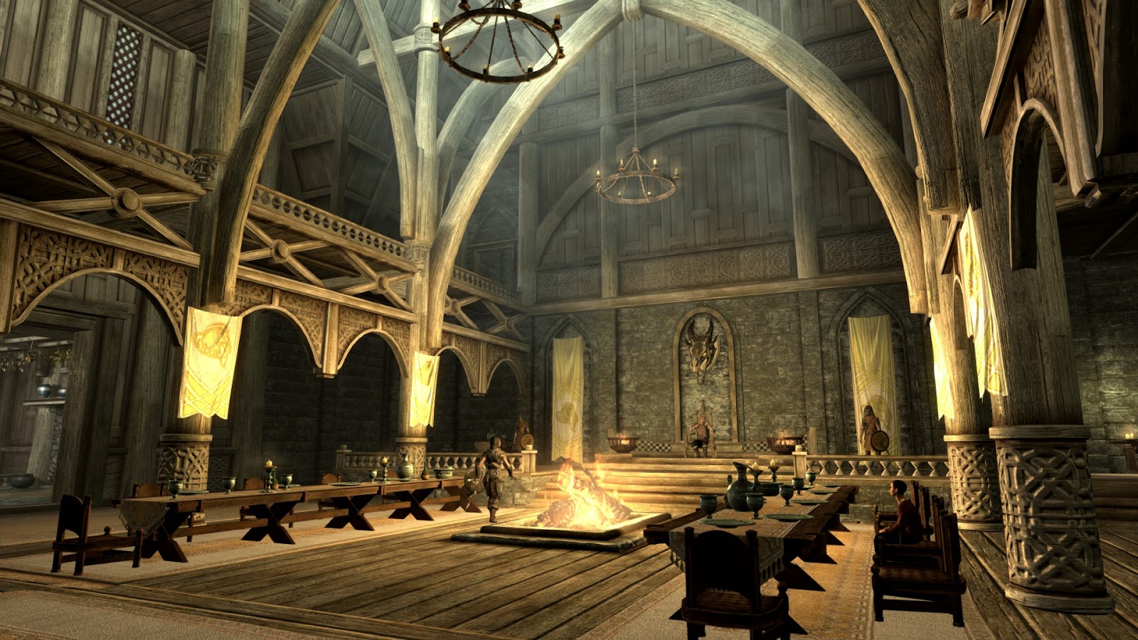 The art of architecture skyrim dragonsreach