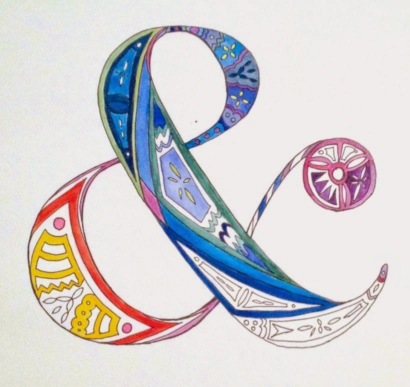 Paint it // Pen  Watercolour AmpersandSarita Creative